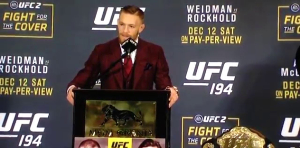 UFC featherweight champ Conor Mcgregor on the Law of Attraction