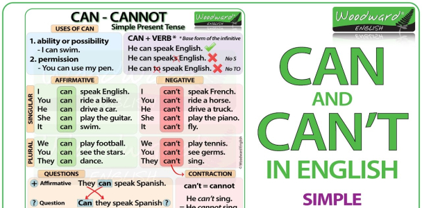 Can Can't Cannot – English Grammar Lesson