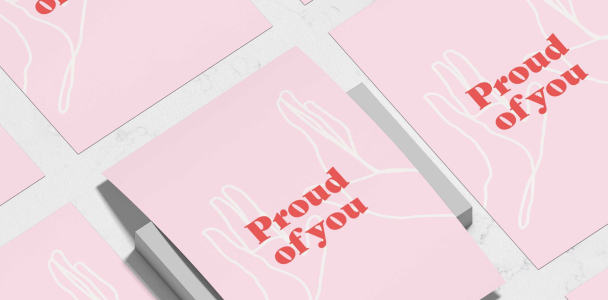 Proud of You A3, A4 High Five Print – Affirmation and Self-Love Collection – Unframed (A3)