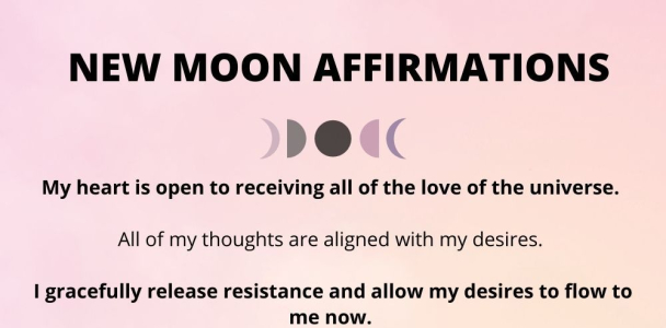 Powerful Affirmations for New Moon
