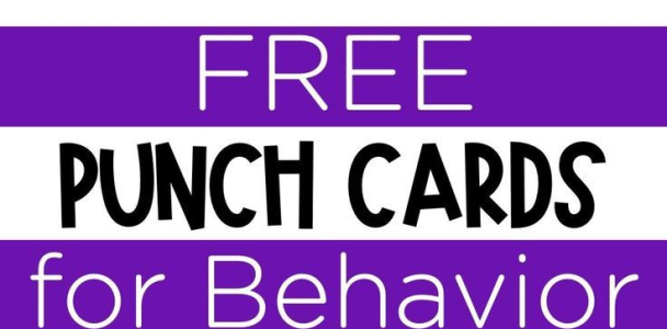 Simple Punch Cards for Positive Behavior Support – Mrs. Richardson's Class